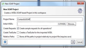 project name and the endpoint for the WSDL